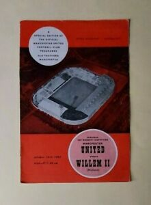 Manchester United v Willem II, 15/10/1963 - Cup Winners Cup 1st Rd Programme