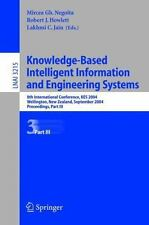 Knowledge-Based Intelligent Information and Engineering Systems Pt. III : 8th...