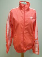 R915 MENS ADIDAS PINK WHITE ZIPPED SPORTS TRACK JACKET UK S EU 46