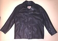 Men's Guess Black Leather Jacket Size Large LG Great Condition Removable Liner