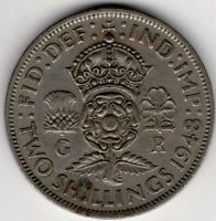1948 GREAT BRITAIN TWO 2 SHILLINGS KING GEORGE VI NICE WORLD COIN