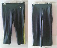 2 Pairs of NIKE Dri-Fit Gray Capris/Cropped Leggings Athletic Women's XS