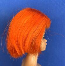 VINTAGE BARBIE DOLL COLOR MAGIC BRIGHT ORANGE AMERICAN GIRL LONG HAIR STYLE WIG