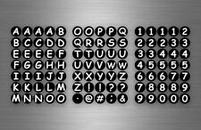 Planche autocollant sticker adhésif alphabet numero chiffre rond calendrier r1