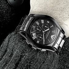 EMPORIO ARMANI AR1400 CERAMIC BLACK FOR MAN CHRONOGRAPH WATCH
