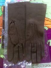 Ladies Brown Suede Gloves