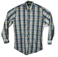 Peter Millar Mens Long Sleeve Plaid Button Down Shirt Size Medium EUC