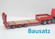 1:87 EM116 3achs Tieflader Auflieger BAUSATZ mit Rampen für Herpa Umbau Eigenbau