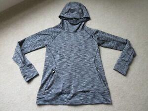Souluxe grey marl sports hooded hoodie, size M