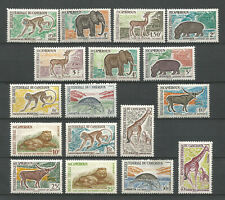 Cameroon 1962 - 1964 Cameroun n° 339 - 353 MNH **  Animaux Sauvages