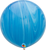 """30"""" BLUE SUPERAGATE PACK OF 2 PARTY SUPPLIES"""