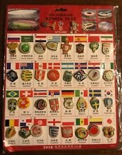 FIFA 2018 RUSSIA World Cup 32 Teams Logo Mascot Fuleco Pin 34 Badges Set