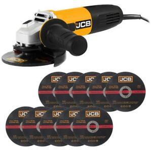 JCB Winkelschleifer 125 mm 850W im Karton inkl. 10 Metall Trennscheiben GRATIS