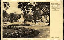 Dresden Jahresschau 1937 s/w AK Garten und Heim Blumengarten mit Wasserkunst