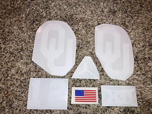 Oklahoma Sooners Full Size FS Football Helmet Decals W/#12, XII, Jordan, & Flag