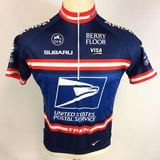 Vintage TREK Nike Dri Fit USPS Post Office Cycling Racing Bicycle Jersey Shirt L