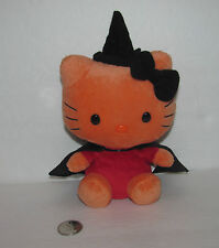 "Ty Sanrio Hello Kitty 6"" Orange - Witch Costume Hallowe'en - Hat, Cape"