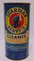 New Vintage 1930s GUARDIAN SERVICE ADVERTISING TIN CAN LOS ANGELES CALIFORNIA CA
