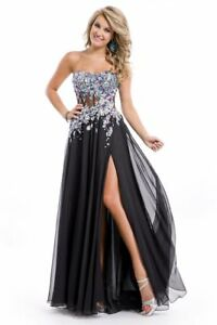 NWT BLACK PARTYTIME sz 2 FORMAL PROM DRESS PAGEANT BALLGOWN #6497 $500original *