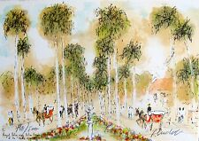 Urbain Huchet ROYAL PALM WAY Hand Signed Limited Edition Lithograph Art