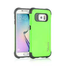Sooper Cool Protective Hybrid Cover Case for Samsung Galaxy S6 Edge Green SC