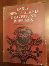 Early New England Gravestone Rubbings, Graveyards Cemeteries, Gillon, 1st ed.