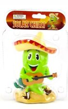 Solar Power Dancing Toys Solar Green Chili With Hat Mexican Bobblehead Toy New
