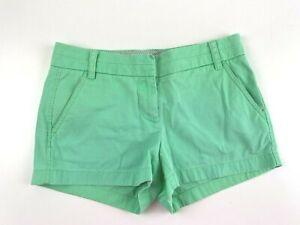 Women's J Crew Chino Shorts Size 2 Green 100% Cotton