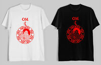 New Om Band Metal Rock Logo Men's Black White T-Shirt Size S-2XL