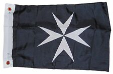 HOSPITALLER CHRISTIAN CRUSADER FLAG POLYESTER 12 X 18 INCHES BOAT MOTORCYCLE