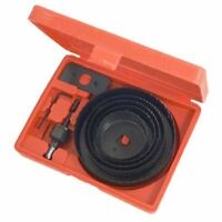 8Pc Hole Saw Cutting Set Kit 19-64Mm Wood Metal Alloys
