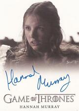 """Game of Thrones Season 4 - Hannah Murray """"Gilly"""" Autograph Card"""