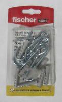 Fischer tasselli nylon S 6 C con occhiolo aperto 8+8pz x murature piene e forate