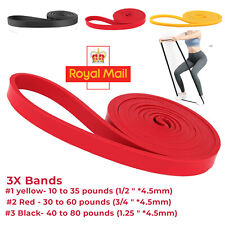PULL UP Assist Band For Powerlifting Workout Stretch Exercise Loop Strong Bands