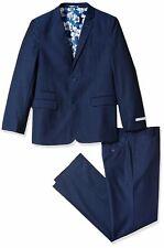 Isaac Mizrahi 3-Piece Pant Suit Set Blue Size 16 Pindot Hawaiian-Lined $85 950