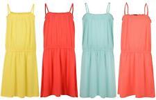 GIRLS DRESS KIABI SLEEVELESS PLAIN JERSEY SUMMER DRESSES 3-12 YEARS NEW