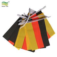 "Germany Bunting 6 metres 20 flag German Euro 2021 Small Fabric Flag 9""x6"""