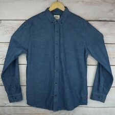 Levi's Men's Large Denim Long Sleeve Button Down Shirt Medium Wash Blue Jean