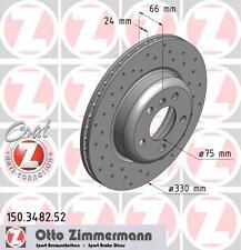 ZIMMERMANN 150.3482.52 FRONT SPORT BRAKE DISCS PAIR (COAT Z)