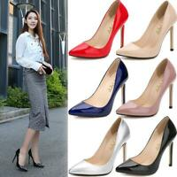 Women Pointy Toe High Heels Dress Prom Office Wedding Stiletto Casual Shoes Pump