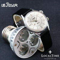 Stunning 1950's LEJOUR [France] Vintage Gents Dress Alarm Watch 17j AS Cal. 1475