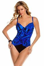 NEW MAGICSUIT MIRACLESUIT 12 42 Blue SLIMMING SWIMSUIT $144 RV Liv One Piece