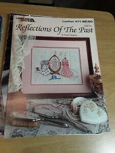 Vintage Leisure Arts 471 Reflections of The Past Cross Stitch Chart Pink Dress