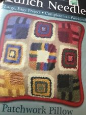Rug Yarn Punch Needle Patchwork Pillow Kit. New In Box  MCG Textiles 73513 14x14