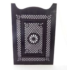 Victorian Cast Iron Fire Place Cover. Center Flower. Reticulated Diamond Design.