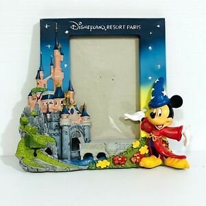 Disneyland Resort Paris Photo Picture Frame Mickey Mouse With Castle