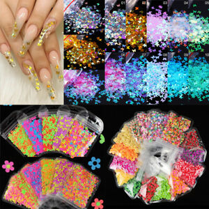 Nail Art Colorful Flakes Holographicss Nail Glitter Sequins Decoration Manicure#
