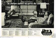 Publicité advertising 1983 (2 pages) Fauteuil canapé Cuir Center