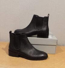 NEW Cole Haan LANDSMAN BOOTIE BLACK Leather Pull On Ankle Boot SHORT SIZE 8