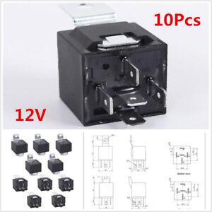 10Pcs/Set 12V 30/40 Amp 5-Pin SPDT Electrical Relays For Car Alarm Fitters Audio